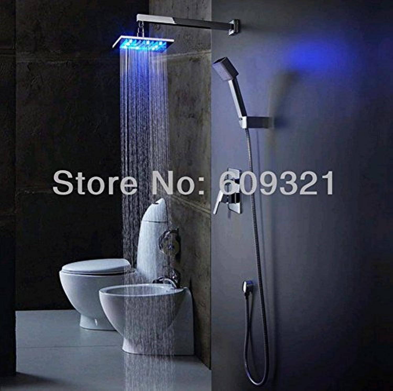AllureFeng Badezimmer-Hahndusche, LED-Duschkopf, Badarmatur, Bad-Mixer, Regendusche