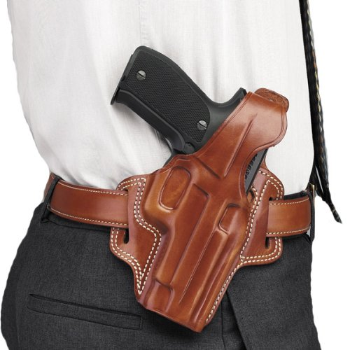 Galco Fletch High Ride Belt Holster for 1911 4-Inch, 4 1/4-Inch Colt, Kimber, para, Springfield, Smith (Tan, Right-Hand)