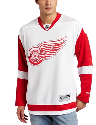 NHL Detroit Red Wings Premier Jersey, Herren, 7185AHPJDRW 030, weiß, XXL