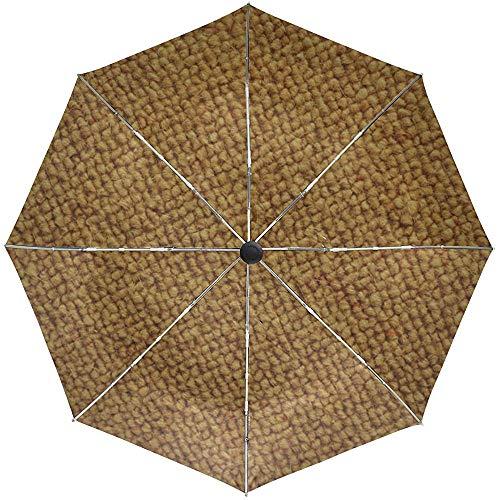 Automatischer Regenschirm-Teppich-Hintergrund-große Beschaffenheits-Wolldecken-Reise-bequemes winddichtes wasserdichtes faltendes Auto öffnen Sich nah