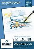 Canson 200005789 - Bloc de papel para acuarela (A4, 21 x 29.7 cm, 300 gsm), color blanco