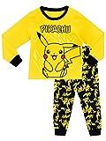 Pokemon Jungen Schlafanzug Pikachu, Mehrfarbig, 128 (Herstellergröße: 7 - 8 Jahre)