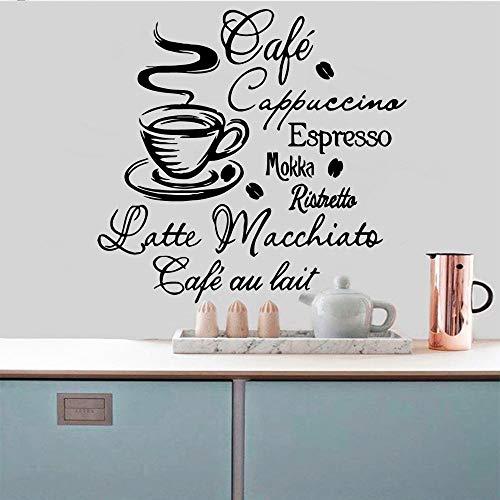 Tianpengyuanshuai Kaffee selbstklebendes Vinyl wasserdichter Wandkunst-Aufkleber Wandaufkleber Wohnkultur-Tapete 28X29cm