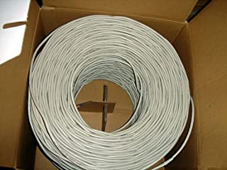 VideoSecu 1000ft CAT5e Cable 4 Pair 24 AWG UTP WT Pure Copper Ethernet Network Wire B3C