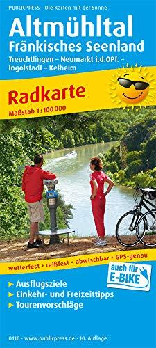 Altmühltal - Fränkisches Seenland, Treuchtlingen - Neumarkt Opf. - Ingolstadt - Kelheim: Radkarte mit Ausflugszielen, Einkehr- & Freizeittipps, ... GPS-genau. 1:100000 (Radkarte / RK)