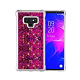 El Lumiere Air Star Milkyway Case for Samsung Galaxy Note 9 Flowing Liquid [Bling Glitter Sparkle] Soft Flexible TPU (Hot Pink)