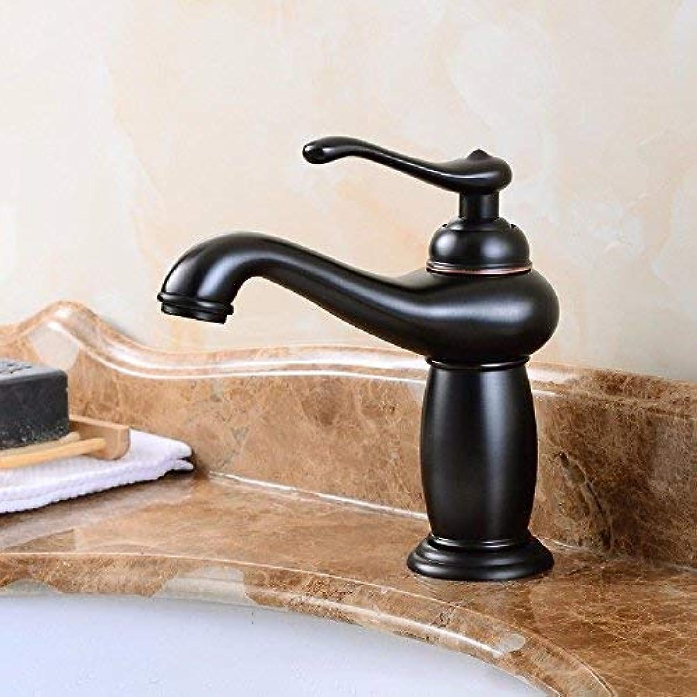 FERZA Home Waschbecken-Mischbatterie Badezimmer-Küchen-Becken-Hahn auslaufsicher Sparen Sie Wasserfarbe ganz Kupfer hei und kalt antik