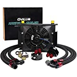 7 inch auto cooling fan - 28 Row AN10 Universal Aluminum Engine Oil Cooler Black + Filter Adapter Kit + 7