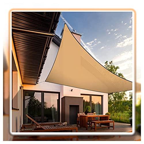 LYQCZ Toldo Vela De Sombra, Rectángulo Bloque UV Impermeable Pabellón por Patio Patio Interior Césped Jardín Actividades Al Aire Libre, Arena (Size : 3x4m/9.8x13.1ft)