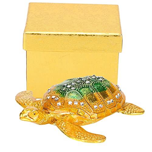 Caja con bisagras de tortuga marina, joyero con bisagras, mini joyero, mini joyero con bisagras de metal, decoración del hogar, manualidades para cumpleaños y regalos de vacaciones