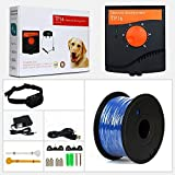 Aniluxe Customizable Radio Waterproof Dog Fence Electric Shock Collar Containment System