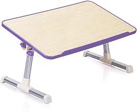 Computer Desk Bed Desk Laptop Desk Folding Portable Study Table Purple