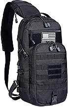 G4Free Tactical Sling Backpack Kit, Molle Chest Shoulder Pack Small Rover Range One Strap Daypack Military EDC Development Bag(Black)