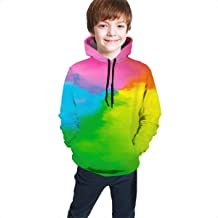 Jkuihuiyhjd Abstract Melbourne Backdrop Unisex Sweatshirt Kids Hoodies 3D Print Pullover Clothes with Pocket for 7-20T