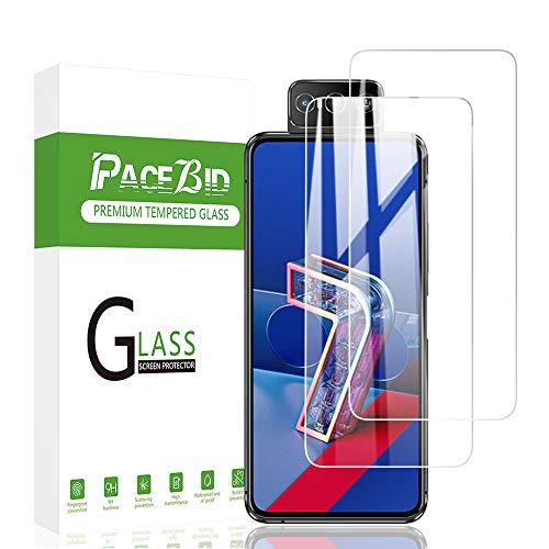PaceBid 2 Pack Panzerglas Schutzfolie Kompatibel mit Asus Zenfone 7 Pro ZS671KS / Zenfone 7 ZS670KS, [ 9H Festigkeit ] [ Anti-Kratzer ] [ Fallfre&lich ] Panzerglasfolie Bildschirmschutzfolie