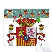 スペインはヨーロッパの国家エンブレム ゲーム用スライドゴムのマウスパッドクリスマス
