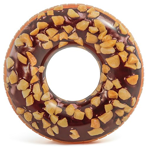 """Intex Nutty Chocolate Donut Inflatable Tube with Realistic Printing, 45"""" Diameter"""