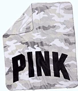 SOLD OUT VICTORIA SECRET - sold out - RARE - Huge SHERPA COZY BLANKET - SOFT CAMO PRINT. - PLUSH SLEEP THROW 50