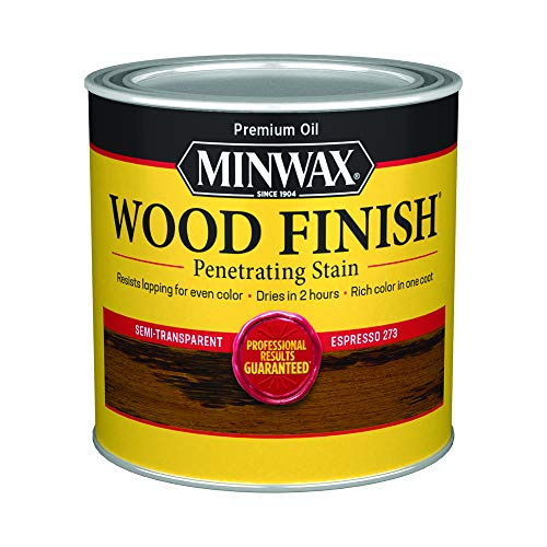 Minwax 227634444 Wood Finish Penetrating Interior Wood Stain, 1/2 pint, Espresso