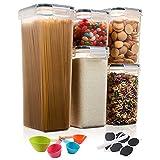 Aitsite 5Pcs Recipientes para Cereales Tarro de Almacenamiento Plastico Botes...