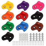 Prise d'Escalade, 10 Pièces Prises d'Escalade Enfants, Prises d'Escalade Texturée Capacité de Charge Élevée, 10 Vis de Fixation, Combinaisons Colorées d'Escalade Intérieure / Extérieure (Couleur)