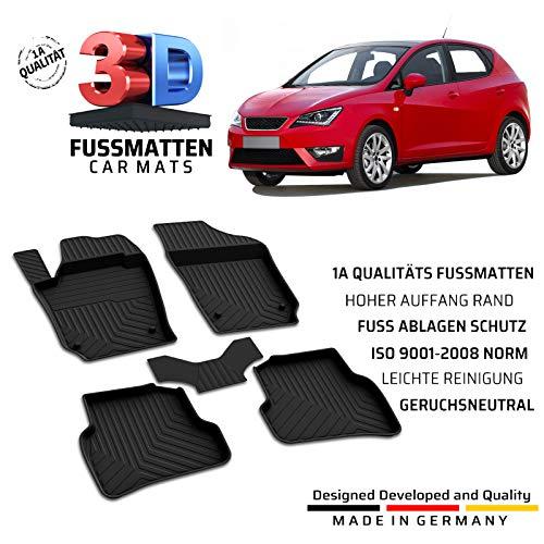 Auto Gummi Fussmatten Passend für Seat Ibiza (4.Gen) Baujahr 2008-2017