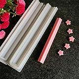 Formen DIY lang Tube Mousse Dessert Silikon Form quadratisch handgefertigt Kerze Seife Vorlage...