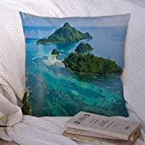 Decorative couch pillow case 16 x 16 inches. Made with polyester, soft and comfortable classic material. Made with invisible zipper, and allows easy insertion and remove inserts. The throw couch pillow covers suite for living room, bed, chair, window...