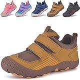 MARITONY Zapatos de senderismo para niños, para niños, niñas, zapatos de trekking, para exteriores, con cierre de velcro, transpirables, antideslizantes, zapatos deportivos, color, talla 27 EU