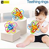 Zest 4 Toyz Baby Soft Teething Ring with Colorful Design, Baby Teething Toy