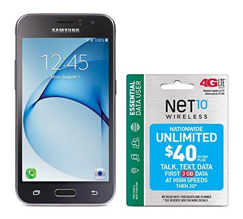 Net10 Samsung Galaxy Luna 4G LTE Prepaid Smartphone with Free $40 Airtime Bundle