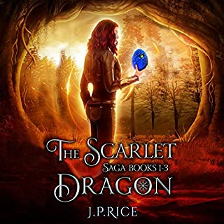 The Scarlet Dragon Saga, Books 1-3 audiobook cover art