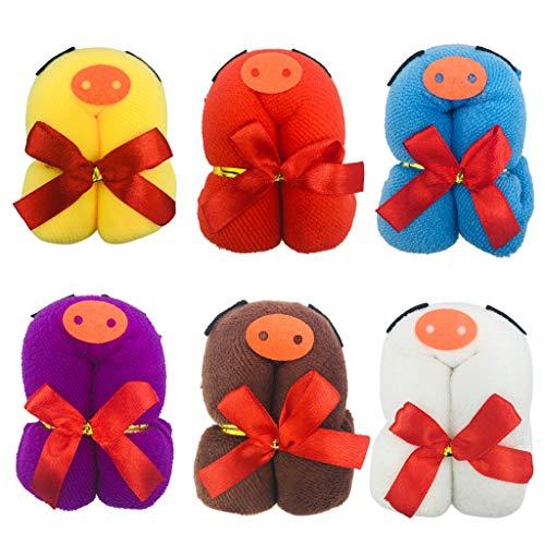 Amycute lote de 12 Toallas Cerditos con formas Detalles Cumpleaños, regalos y...