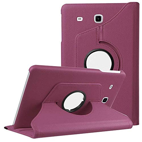 360 Rotating Smart Case PU Leather Cover for Samsung Galaxy Tab E 9.6 T560 T561 SM-T560 Folding Folio Stand Tablet Case funda-Purple