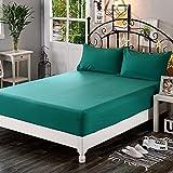 NTtie Protector de colchón/Cubre colchón Acolchado de Fibra antiácaros, Transpirable, Colcha Monocolor Color Liso