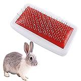 Cepillo de pelo para conejos y conejillos de Indias, peine para el pelo de mascotas pequeñas, reduce la caída y elimina nudos sueltos enredados para todo tipo de pieles.