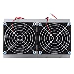 Bewinner Thermoelectric Semiconductor Radiator Cooler Refrigeration Cooling Fan Heat Sink System Kit,2 Cooling Fans, 2 Large Fans and 2 Cold Junction modules