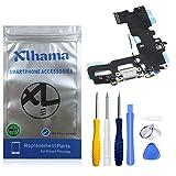 Xlhama Connector Dock Compatible con iPhone 7 (Blanco) Charging Port Puerto de Carga de Repuesto Puerto USB de Carga, Cable Flexible, Micrófono, Conector de Audio, Antena, Incl.Tools Blanco