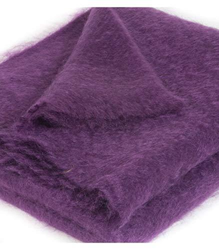 Plaid Mohair Violet 140 X 180 cm