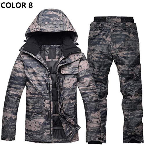oshidede Arctic Queen Snowboard Anzug Set Herren Winter Warm Verdickt Camouflage Skianzug Set Outdoor Wasserdicht