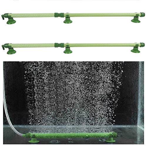 ALUYF 2 Stück Aquarium Luftstein Rohr Luft Blase Sauerstoffpumpe Aquarium Wand Luft Stein Rohr Diffusor Zubehör für Fischtank(14 inch)