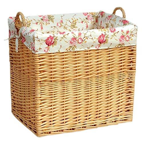 SHUSHI Laundry Wicker Basket Bin Bathroom Storage Hamper Basket, Home Storage Grey Round Wicker Basket, Food Fruit Vegetables Serving Basket, Restaurant Serving