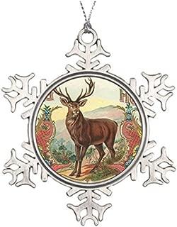Tree Decorating Ideas Animal Buck Annual Christmas Snowflake Ornaments Christmas Snowflake Ornaments