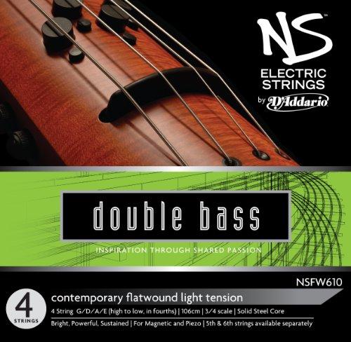 D'Addario NS Electric Contemporary Bass String Set, 3/4 Scale, Medium Tension