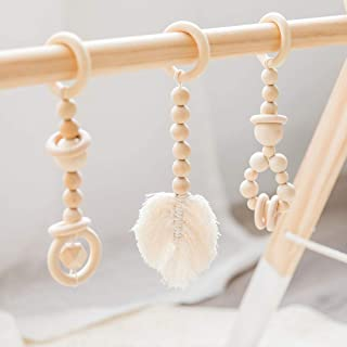 Wood Baby Gym Toys Pendant 3-Piece Set Bed Hanging Baby Play Gym Educational Toys Baby Room Decoration Nordic Style Newbor...