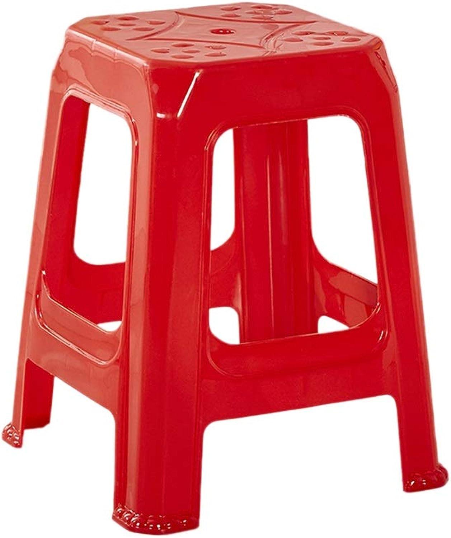 Envío 100% gratuito CJX-Step Stools Taburete Taburete Taburete del Resto, Taburete plástico Robusto Antideslizante Silla Mayor Taburete de baño Taburete del súpermercado Taburete del balcón Taburete al Aire Libre (Color   Rojo)  compras de moda online