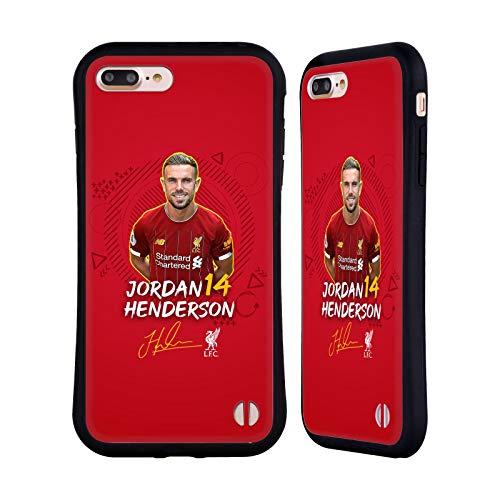 Oficial Liverpool Football Club Jordan Henderson 2019/20 Primer Equipo Grupo 1 Carcasa híbrida Compatible con Apple iPhone 7 Plus/iPhone 8 Plus