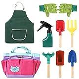 8pcs Set Di Attrezzi Da Giardinaggio Per Bambini Kit Di Attrezzi Da Giardino Per Bambini Con Pala A...