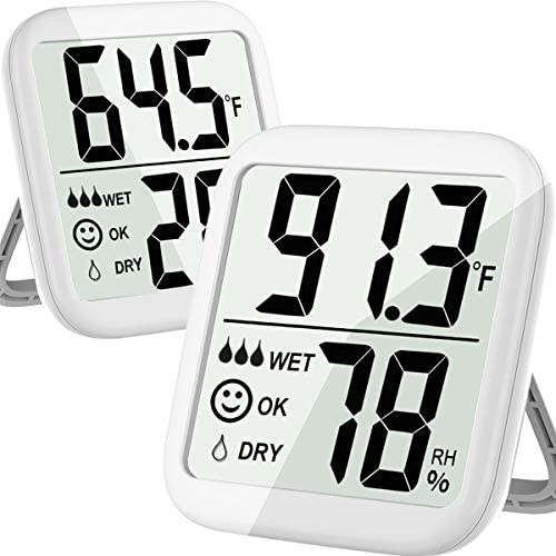 Humidity Gauge 2 Pack Max Humidity Meter Indoor Hygrometer Thermometer Temperature and Humidity product image