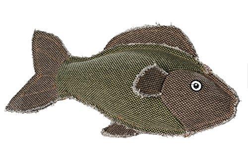 HUNTER CANVAS MARITIME FISH Hundespielzeug, Vintage-Style, mit Baumwolle, Quietschspielzeug, Fisch, 27 cm